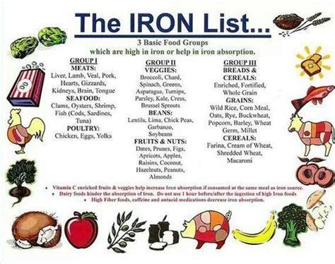printable iron rich foods list iron recipes thefitfork com