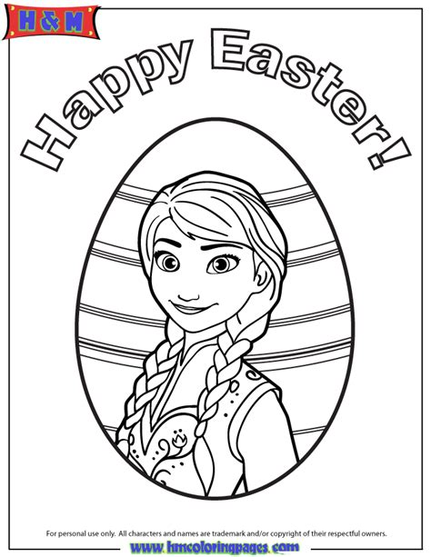princess anna happy easter coloring page h m coloring