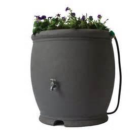 100 Gallon Plastic Barrel - shop algreen 100 gallon granite plastic barrel