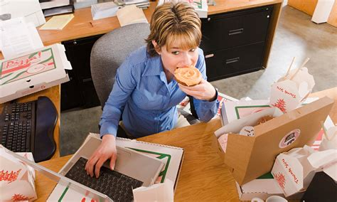 Office Workers by Food At The Desk Gets The Cold Shoulder Letters