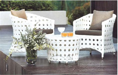 White Wicker Patio Furniture Sets Outdoor White Wicker Furniture Outdoor Furniture Balcony Rattan Leisure Furniture Luxury Hollow