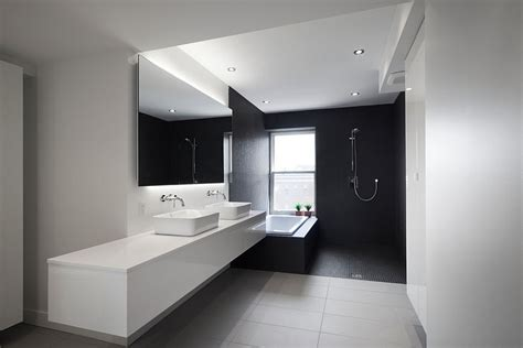 black and white bathrooms design ideas decor and accessories - Modern Bathroom Black And White