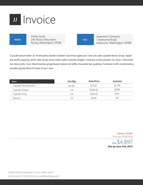 Design Business Invoice | invoice design image joy studio design gallery best design