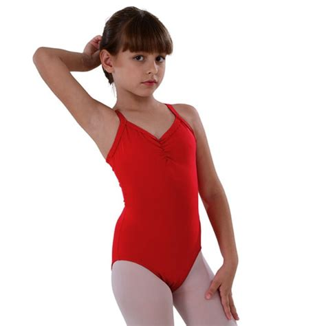 by so danca will inspire artistic performance in your little girl so danca red camisole keyhole dance leotard little girls 2 14