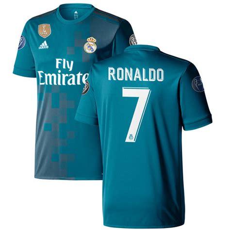 Jersey Go 3rd Real Madrid 2017 2018 1 s adidas cristiano ronaldo teal real madrid 2017 18
