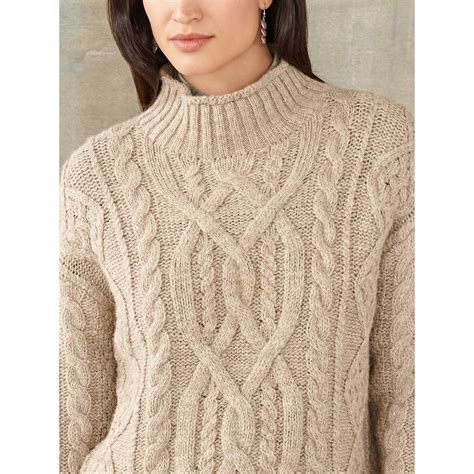 Rrl Tessa Cable Knit Wool Sweater In Lyst