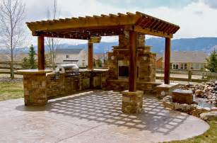 Pergola Kitchen Outdoor by Outdoor Kitchen Ideas Barbecue Grills Under Pergola
