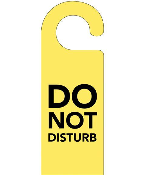 Do Not Disturb Door Hanger by Yellow Do Not Disturb Door Hanger
