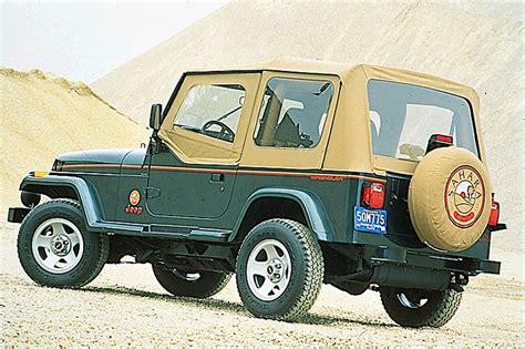 1990 jeep wrangler interior 1990 95 jeep wrangler consumer guide auto