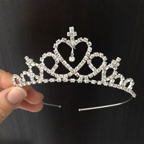vogue baby headband princess crown band bridal tiara headbands for