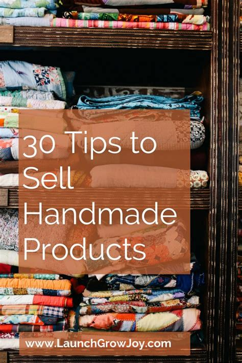 How To Sell Handcrafted Items - sell handmade 30 tips to sell your handmade products