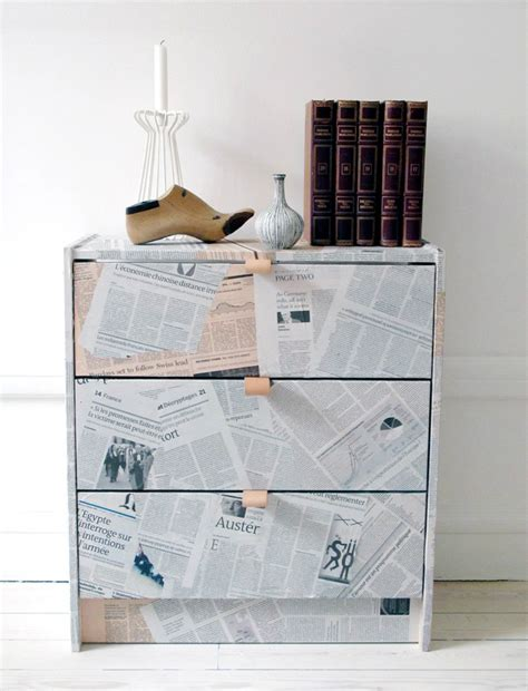 Decoupage With Newspaper Clippings -