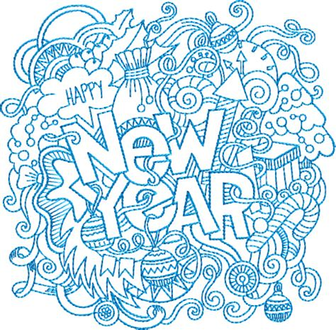 free happy new year machine designs happy new year collage free embroidery design