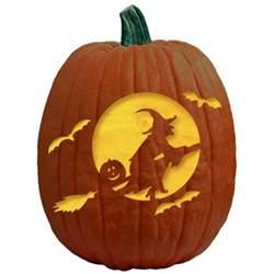 witch pumpkin template freesensenews 8 free easy scary pumpkin templates