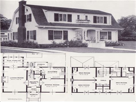 dutch colonial house plans dutch colonial 1906 gambrail 1920s dutch colonial house