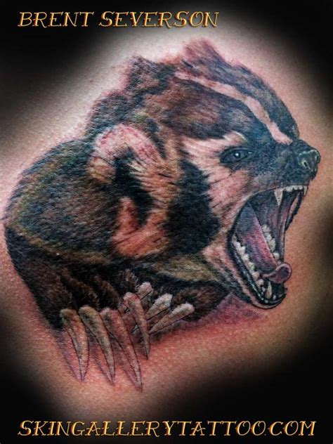 wisconsin badger by brent severson tattoonow