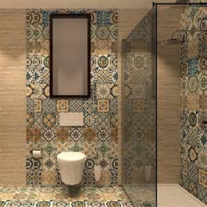 Mosaic Tile For Bathroom Floor - nikea mix pattern tile set by yurtbay 20x20 cm ceramic planet