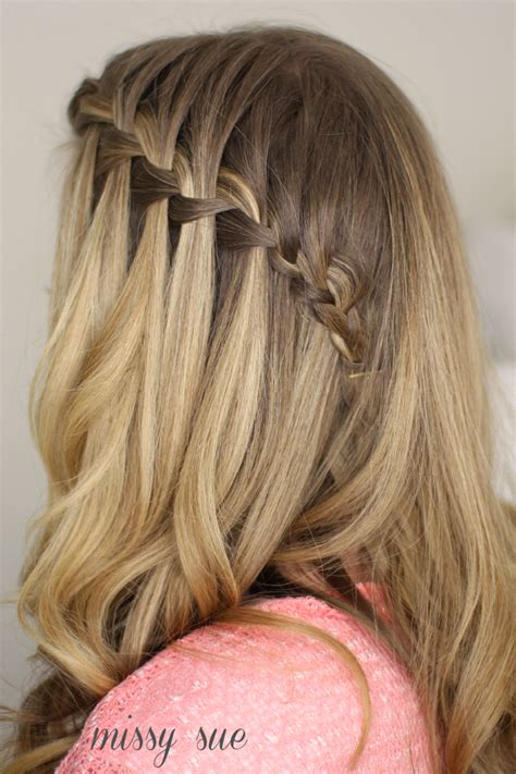 waterfalls cascade braids step by step how to do a waterfall braid