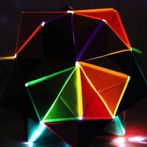 Icosahedron Origami - origami nightlight made of sonobe units emily longbrake