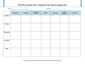 blank lesson plan template for preschool blank lesson plan template weekly lesson plan template