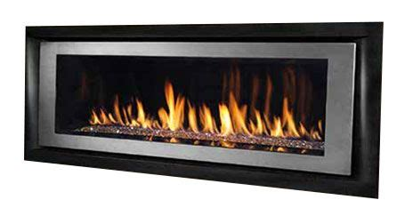 Fireplace Assembly by Black Satin Fireplace Surround And Brushed Nickel Bezel