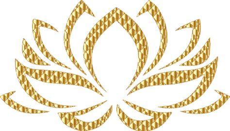 Gold Lotus Clipart Golden Lotus Flower No Background