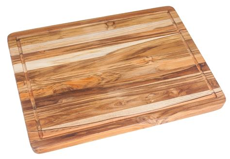 cutting butcher block teak carving board 24x18x1 5 includes juice groove