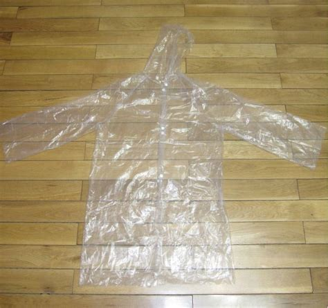 Jas Hujanraincout Transparan jas hujan portable filament thick section raincoat with button transparent jakartanotebook