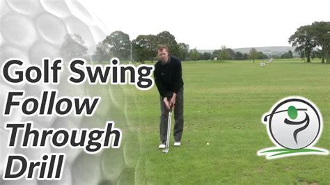 golf swing follow through tips golf follow through drill youtube