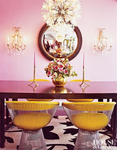 betsey johnson home decor betsey johnson pairs chartreuse with pink in the dining