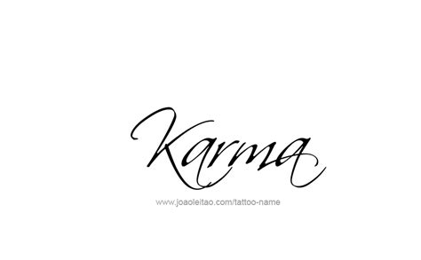 karma tattoo ideas karma name designs