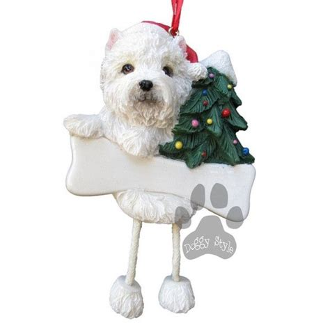dangling leg west highland terrier westie dog christmas