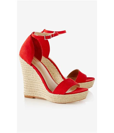 express sandals lyst express espadrille wedge sandal in