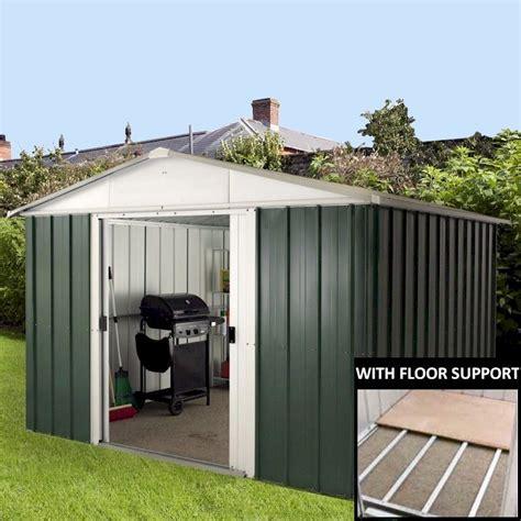 yardmaster 1013geyz metal shed 13x10 with floor support