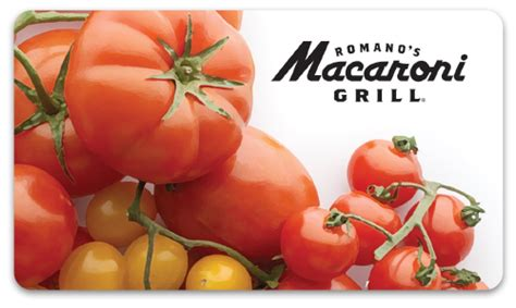 Macaroni Grill Gift Card Value - romano s macaroni grill gift cards italian restaurant