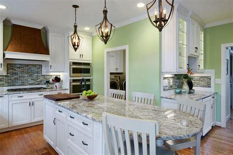 Light Green Kitchen Walls by U Shape Kitchen Decoration Using Nautical Clear Glass