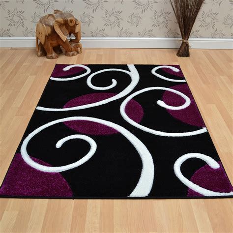 black and purple rug couture rugs cou04 purple black free uk delivery the rug seller