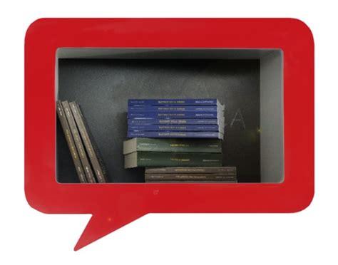 libreria fumetto baloon mensola scaffale a forma di fumetto