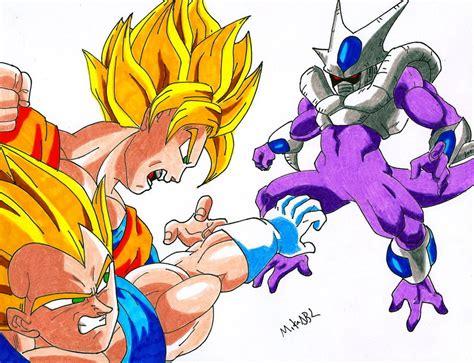 imagenes de goku vs cooler goku vs meta cooler