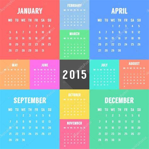 Calendã Do Ano De 2015 2015 Calendar Design Template Memes