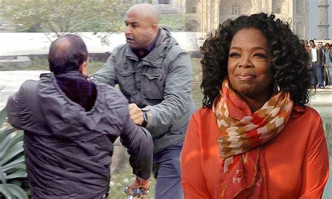 oprah winfrey journalist oprah winfrey india trip security guard scuffled with a