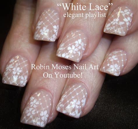 Wedding Bell Nail Design by Robin Moses Nail Quot Lace Nails Quot Quot Wedding Nails