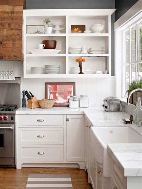 kitchen with open cabinets 5 reasons to choose open shelves in the kitchen jenna burger
