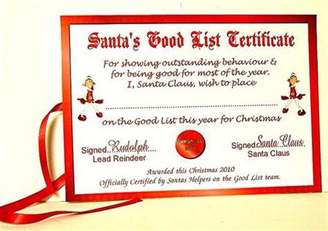 printable santa good list santa s good list certificate topper cup130506 631