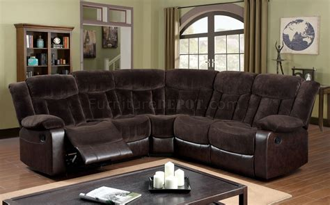 Brown Reclining Sectional Sofa Hshire Reclining Sectional Sofa Cm6809 In Brown Fabric