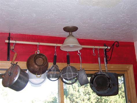diy kitchen pot rack bigdiyideas com diy cheap effective pot rack sup a dillie o