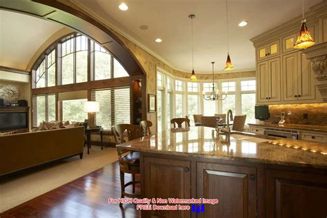 kitchen great room design decorating an open floor plan ideas acadian house plans