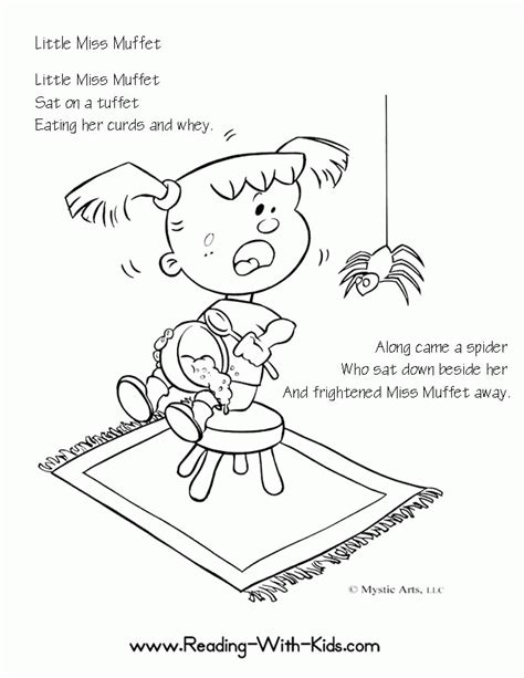 printable children s rhymes nursery rhymes coloring pages coloring home