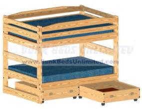 trundle bunk beds with stairs plans woodideas