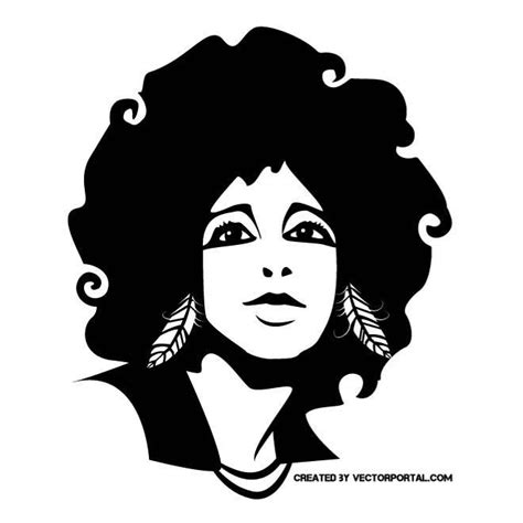 afro hairstyles vector 60 best images about girls and women free vectors on